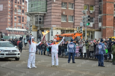 Stage of the Olympic torch relay Sochi 2014 in Irkutsk_22