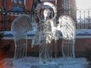Ледяные фигуры на территории Казанского кафедрального собора