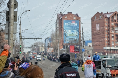 Stage of the Olympic torch relay Sochi 2014 in Irkutsk_6