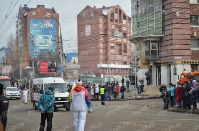 Stage of the Olympic torch relay Sochi 2014 in Irkutsk_9