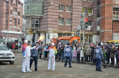Stage of the Olympic torch relay Sochi 2014 in Irkutsk_20