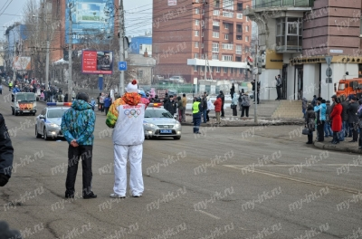 Stage of the Olympic torch relay Sochi 2014 in Irkutsk_5