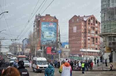 Stage of the Olympic torch relay Sochi 2014 in Irkutsk_8